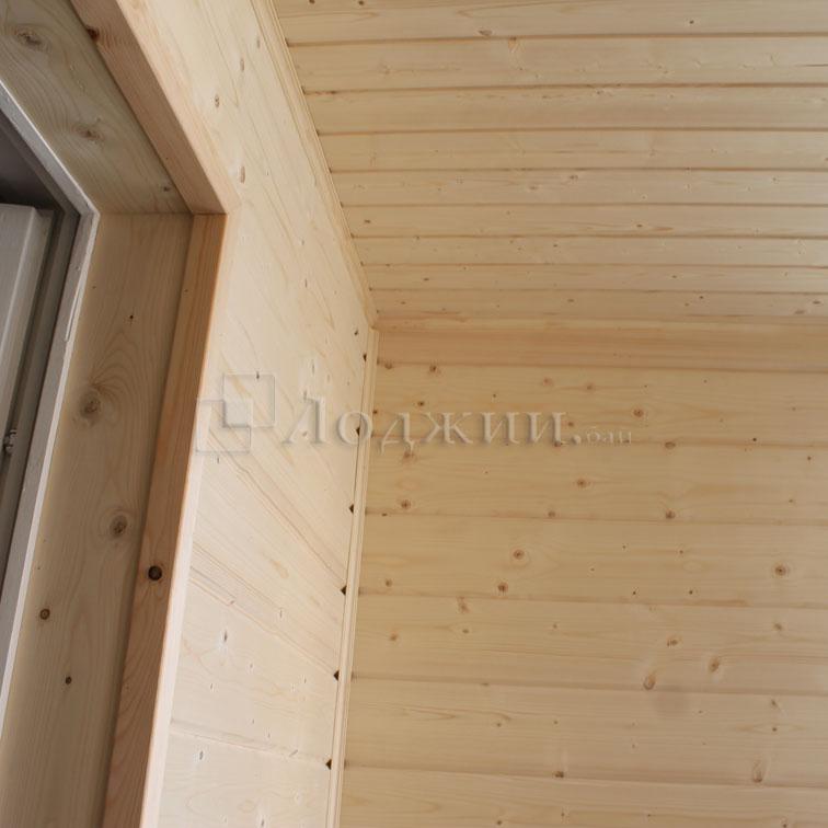 Фото работ по отделке балконов и лоджий.